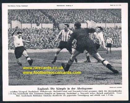 1954 Mohrendruck Sunderland v Spurs, Ken Chisholm, German newspaper supplement